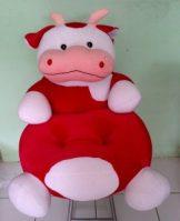 Sofa Baby Cow Merah