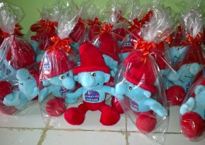 Souvenir Customize-Smurf PAN Merah
