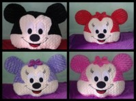 Bantal Muka Jumbo Micky atau Minnie Mouse