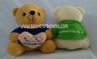 Bear duduk bordir love custom