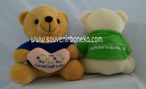 Bear duduk bordir love custom